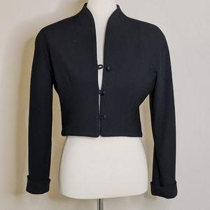 VTG David Hayes Black Cropped Wool Jacket